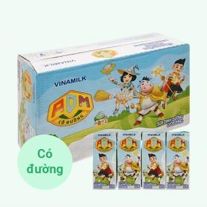 Thùng 48 hộp sữa dinh dưỡng có đường Vinamilk ADM 180ml