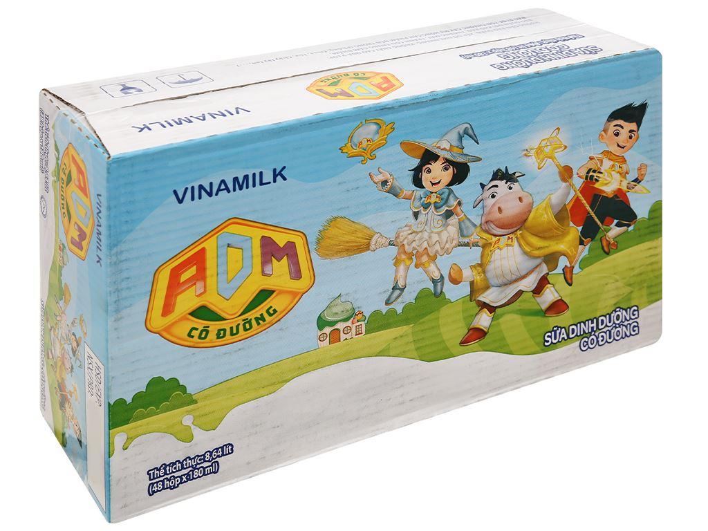 Thùng 48 hộp sữa dinh dưỡng có đường Vinamilk ADM 180ml 1