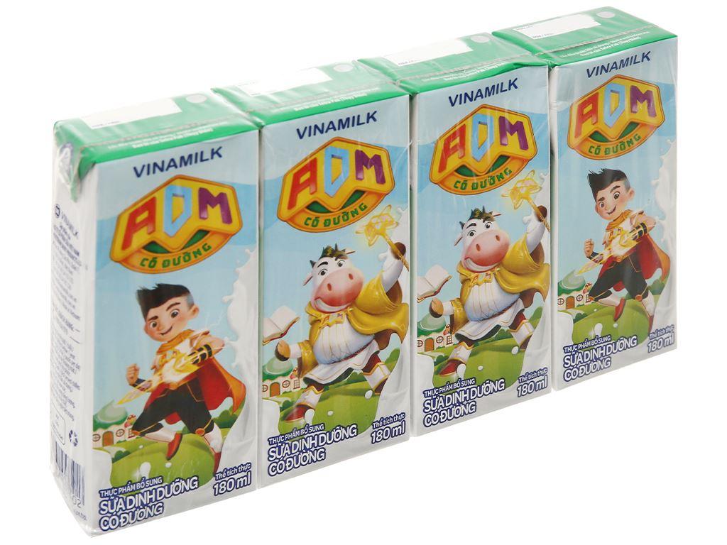 Thùng 48 hộp sữa dinh dưỡng có đường Vinamilk ADM 180ml 2