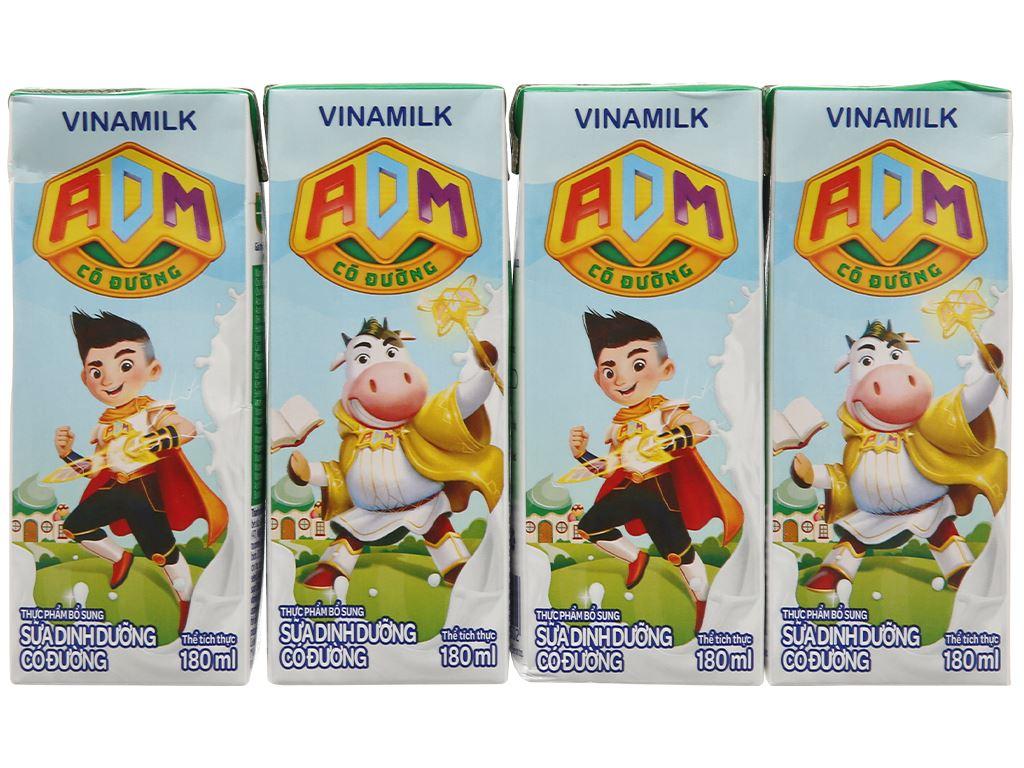 Thùng 48 hộp sữa dinh dưỡng có đường Vinamilk ADM 180ml 3