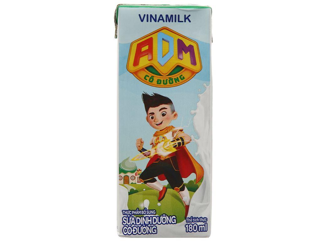 Thùng 48 hộp sữa dinh dưỡng có đường Vinamilk ADM 180ml 5