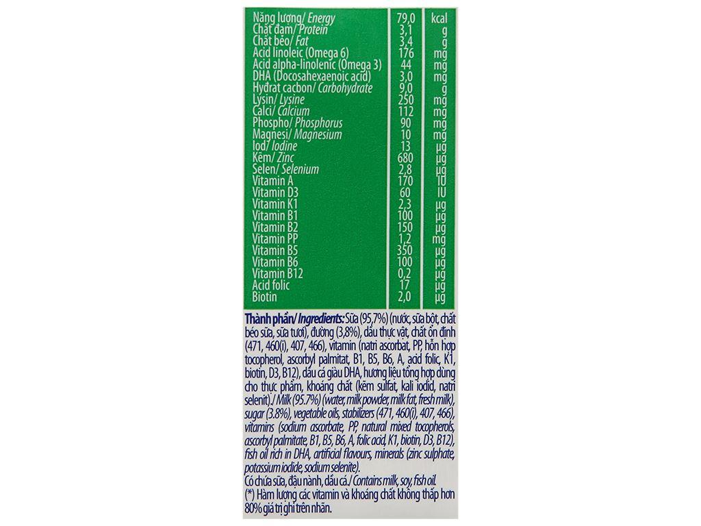 Thùng 48 hộp sữa dinh dưỡng có đường Vinamilk ADM 180ml 9