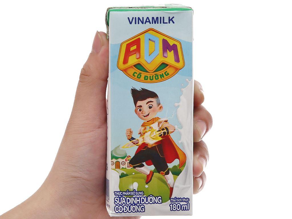 Thùng 48 hộp sữa dinh dưỡng có đường Vinamilk ADM 180ml 10
