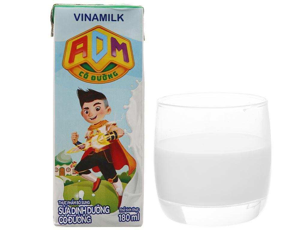 Thùng 48 hộp sữa dinh dưỡng có đường Vinamilk ADM 180ml 11