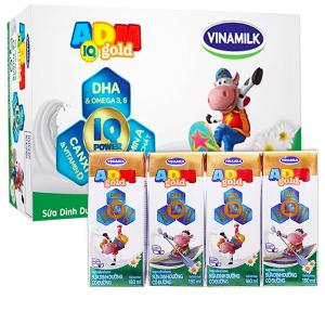 Thùng 48 hộp sữa dinh dưỡng có đường Vinamilk ADM Gold 180ml