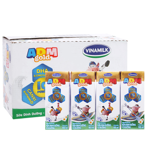 Thùng 48 hộp sữa dinh dưỡng Vinamilk ADM Gold có đường 180ml