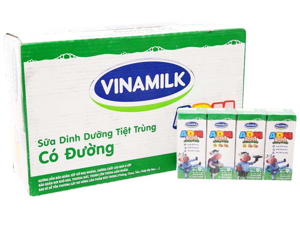 Thùng 48 hộp sữa tiệt trùng Vinamilk ADM Gold có đường 180ml 2