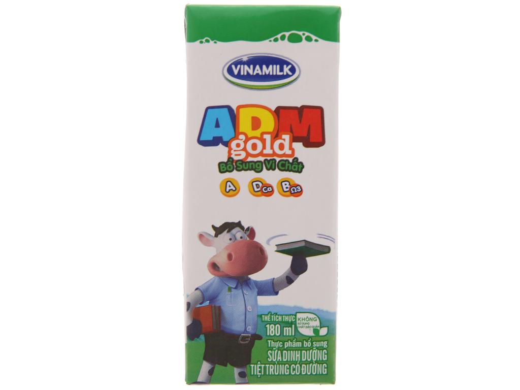 Thùng 48 hộp sữa tiệt trùng Vinamilk ADM Gold có đường 180ml 3
