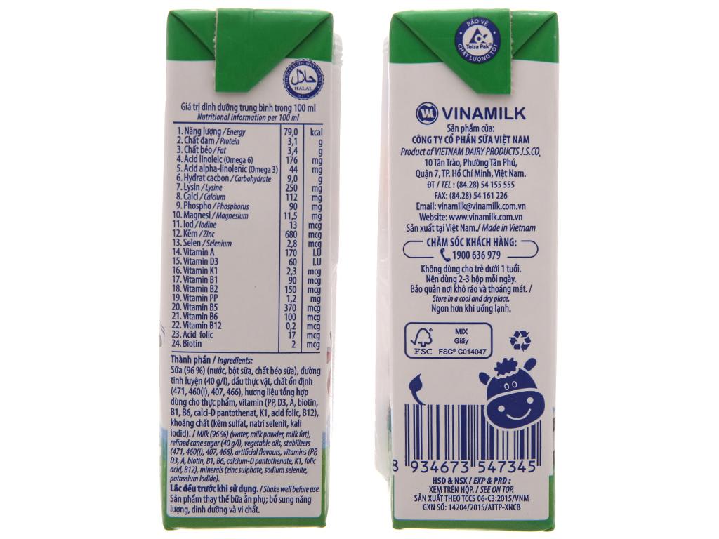 Thùng 48 hộp sữa tiệt trùng Vinamilk ADM Gold có đường 180ml 5