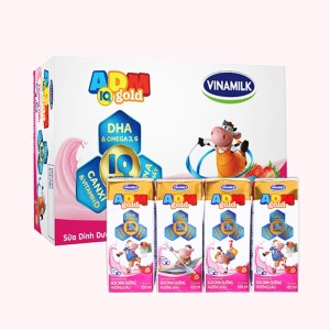 Thùng 48 hộp sữa dinh dưỡng hương dâu Vinamilk ADM Gold 180ml