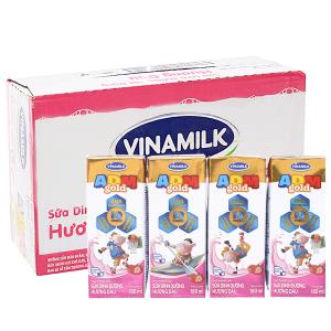 Thùng 48 hộp sữa dinh dưỡng Vinamilk ADM Gold hương dâu 180ml