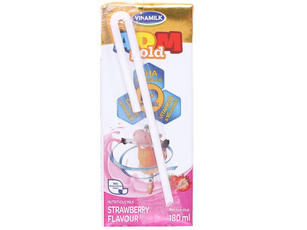 Thùng 48 hộp sữa dinh dưỡng hương dâu Vinamilk ADM Gold 180ml 3