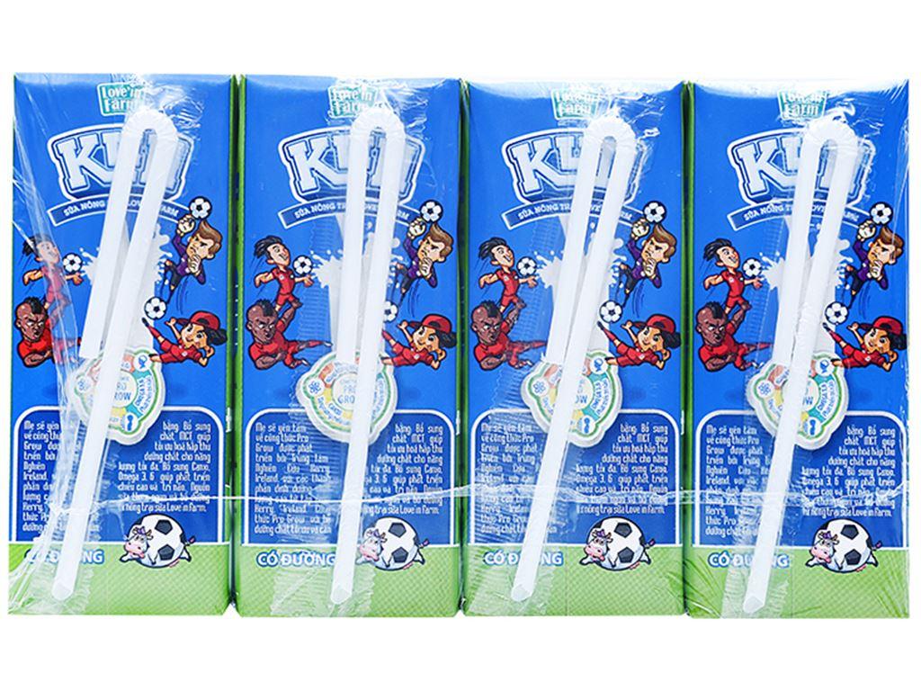 Thùng 48 hộp sữa tiệt trùng có đường LiF Kun hộp 180ml 3