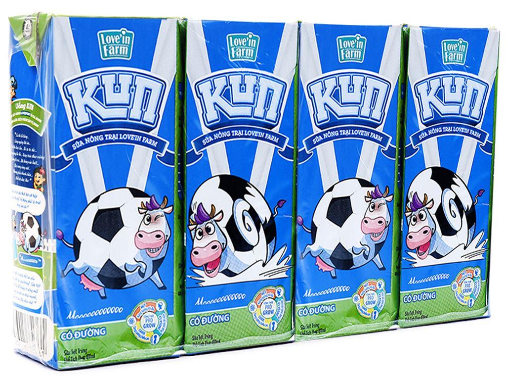 Thùng 48 hộp sữa tiệt trùng có đường LiF Kun hộp 180ml 2