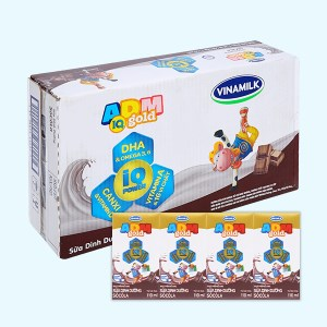 Thùng 48 hộp sữa dinh dưỡng socola Vinamilk ADM Gold 110ml