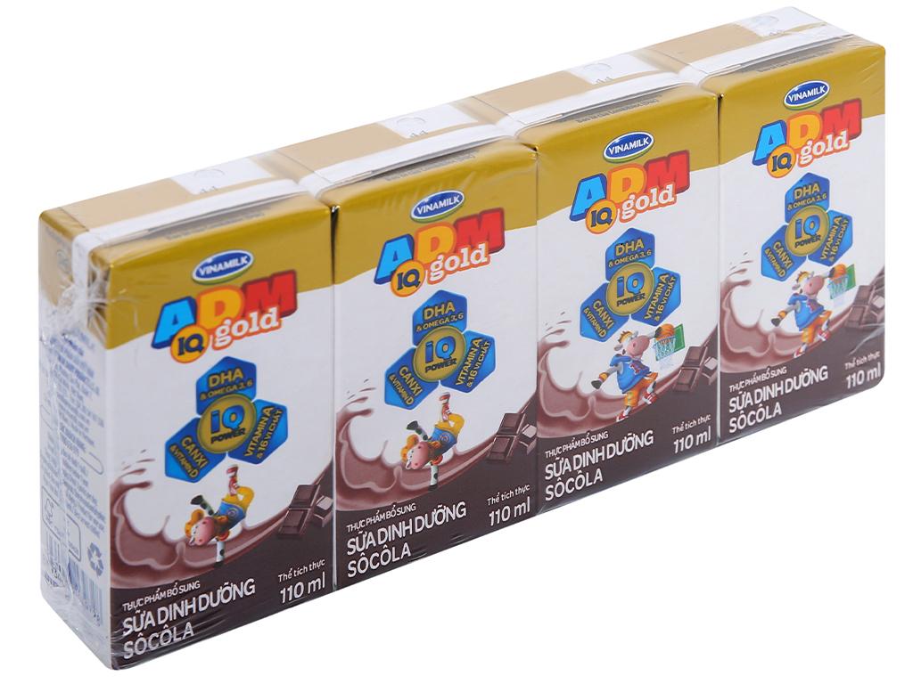 Thùng 48 hộp sữa dinh dưỡng socola Vinamilk ADM Gold 110ml 2