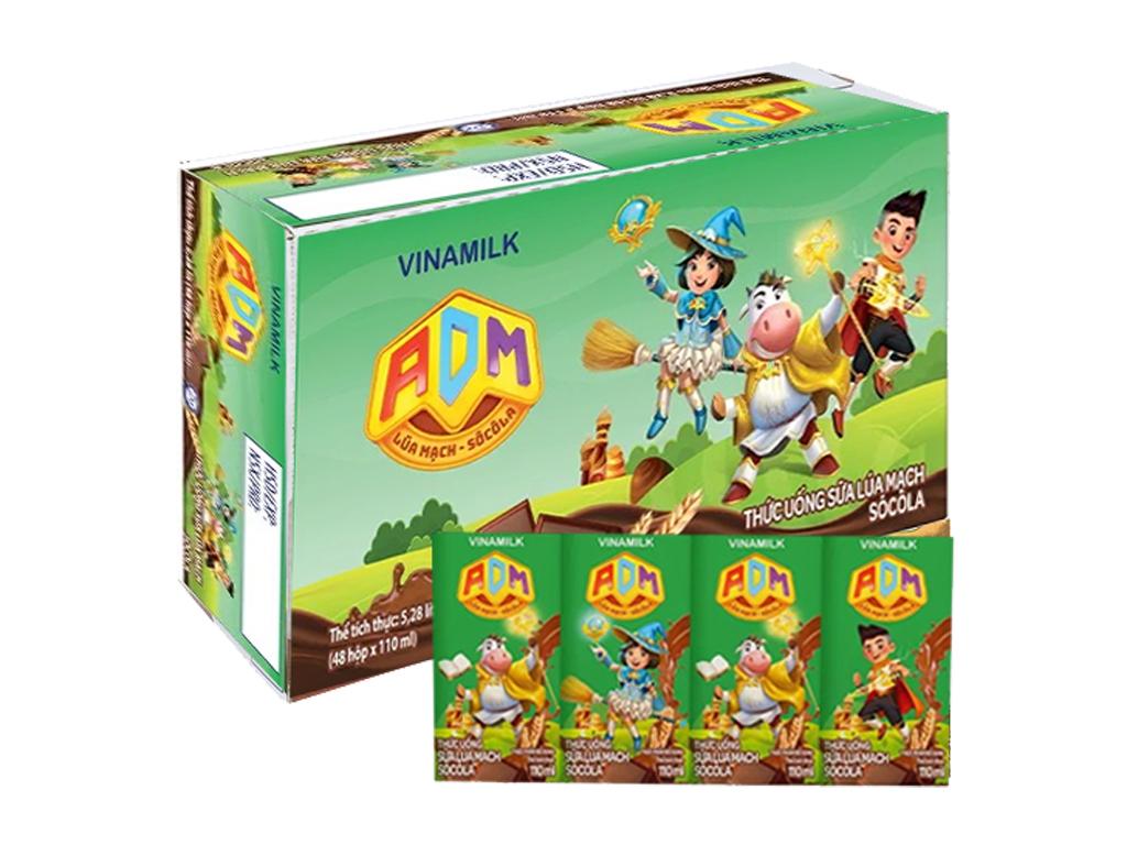 Thùng 48 hộp sữa dinh dưỡng socola Vinamilk ADM Gold 110ml 1
