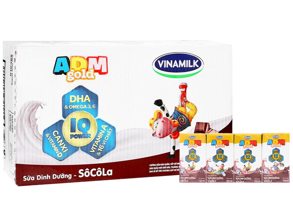Thùng 48 hộp sữa dinh dưỡng socola Vinamilk ADM Gold 110ml 5