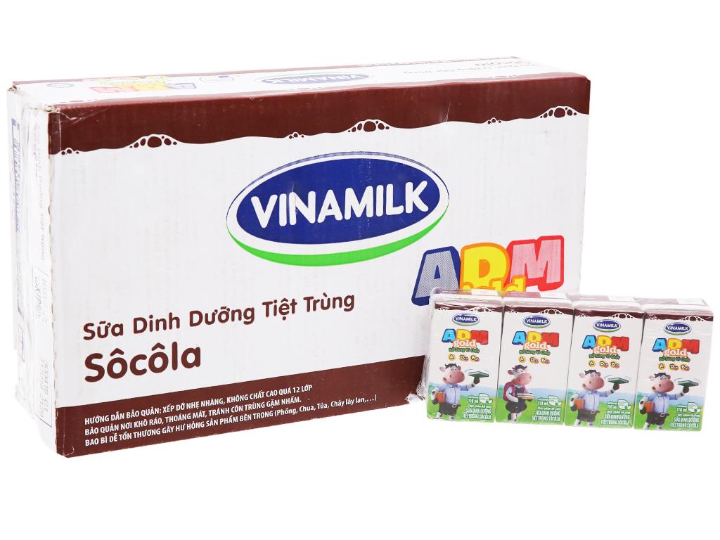 Thùng 48 hộp sữa dinh dưỡng Vinamilk ADM Gold sô cô la 110ml 2