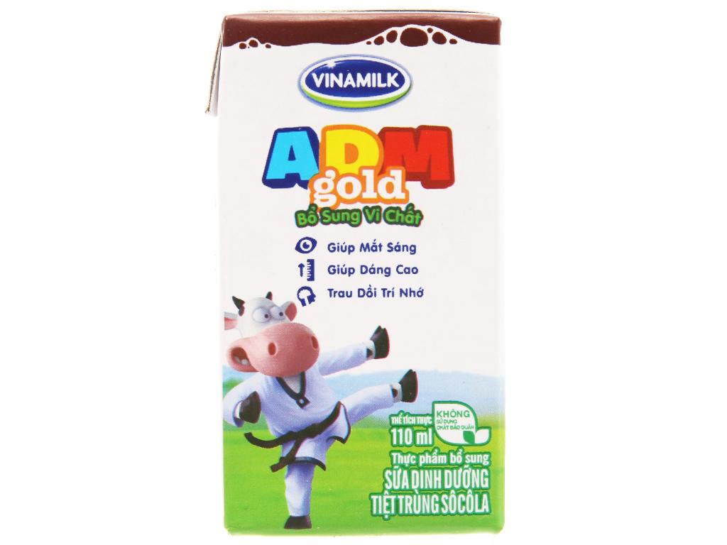 Thùng 48 hộp sữa dinh dưỡng Vinamilk ADM Gold sô cô la 110ml 3