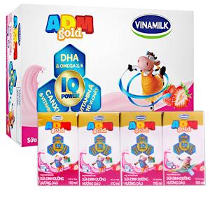 Thùng 48 hộp sữa dinh dưỡng hương dâu Vinamilk ADM Gold 110ml