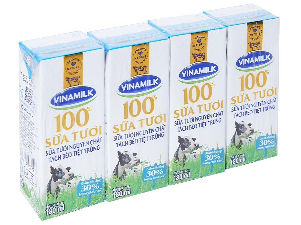 Thùng 48 hộp sữa tươi tách béo không đường Vinamilk 180ml 2