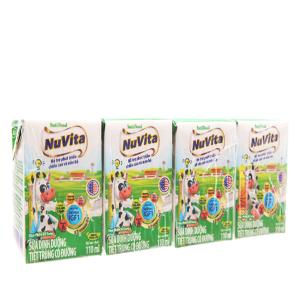 Lốc 4 hộp sữa tiệt trùng Nuvita có đường 110ml
