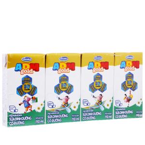 Lốc 4 hộp sữa dinh dưỡng có đường Vinamilk ADM Gold 110ml