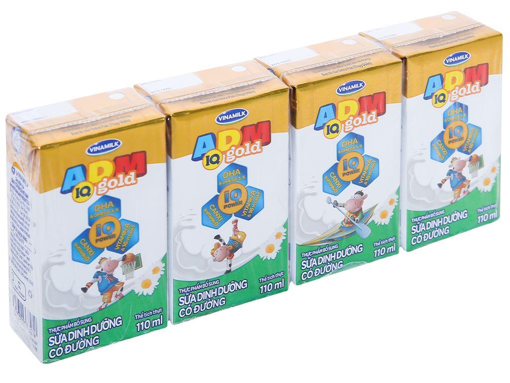 Lốc 4 hộp sữa dinh dưỡng có đường Vinamilk ADM Gold 110ml 1