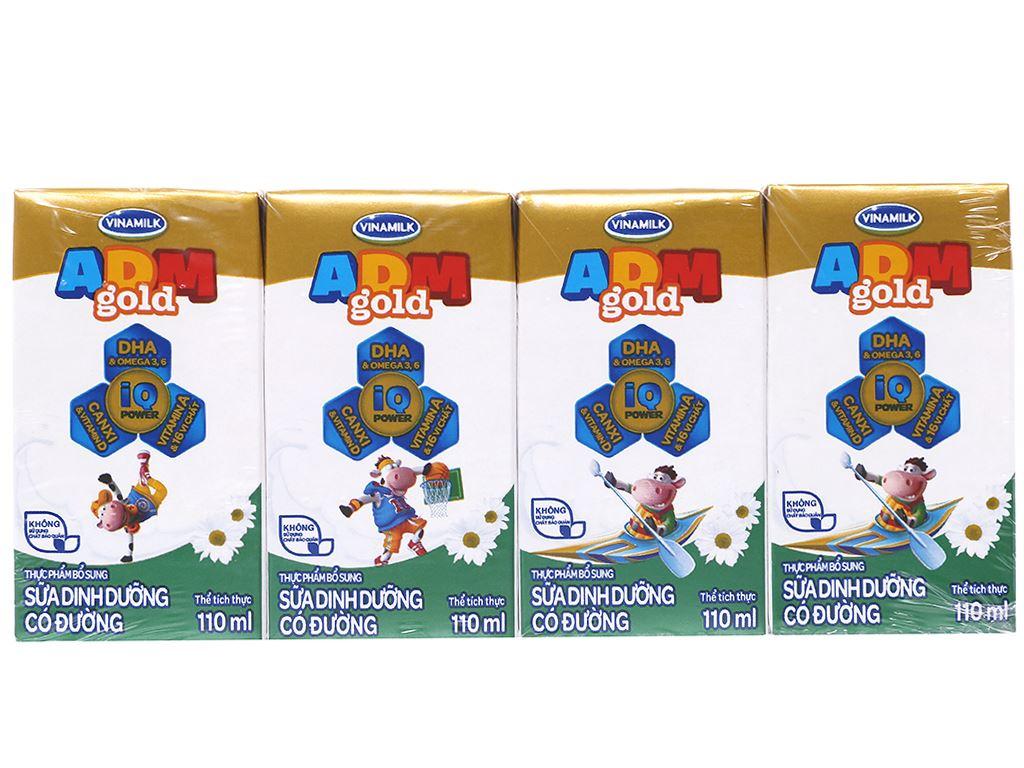 Thùng 48 hộp sữa dinh dưỡng Vinamilk ADM Gold có đường 110ml 2
