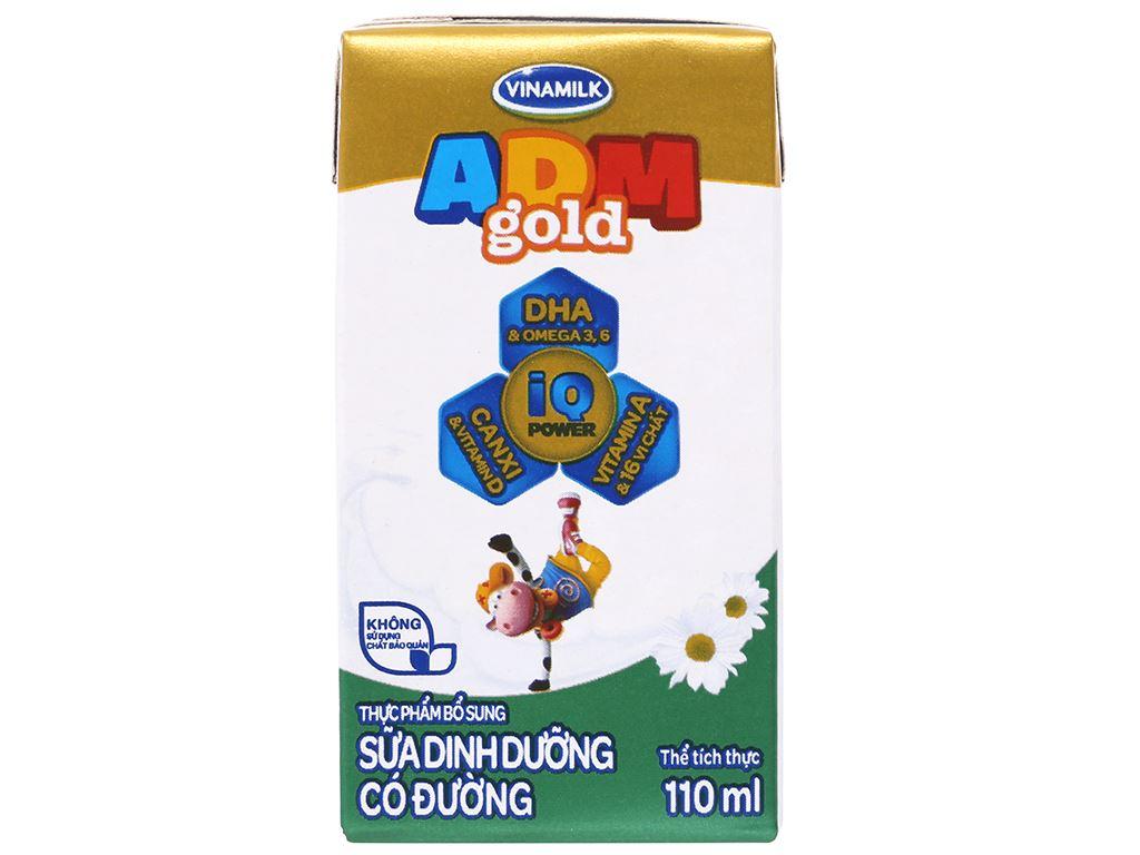 Thùng 48 hộp sữa dinh dưỡng Vinamilk ADM Gold có đường 110ml 3