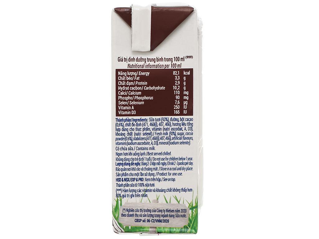 Lốc 4 hộp sữa tươi socola Vinamilk 100% Sữa Tươi 110ml 6