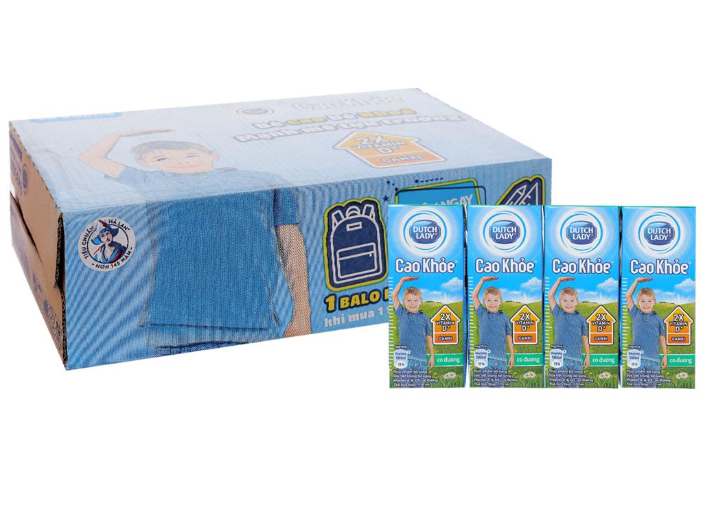 Thùng 48 hộp sữa tiệt trùng Dutch Lady Cao khoẻ có đường 170ml 1