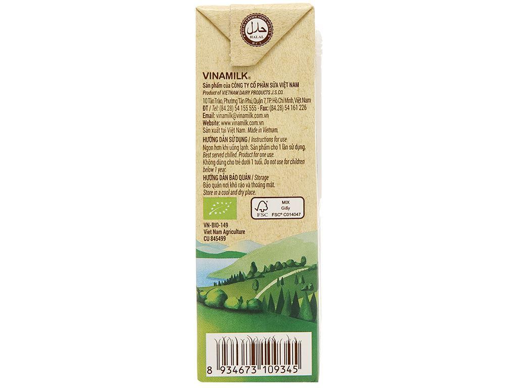 Lốc 4 hộp sữa tươi nguyên chất không đường Vinamilk 100% Organic 180ml 6