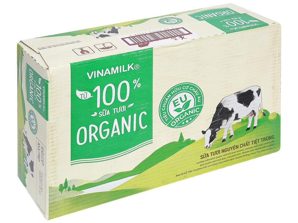 Thùng 48 hộp sữa tươi nguyên chất không đường Vinamilk 100% Organic 180ml 7