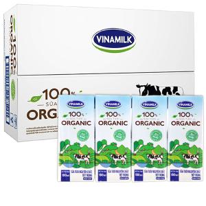 Thùng 48 hộp sữa tươi nguyên chất Vinamilk 100% Organic 180ml