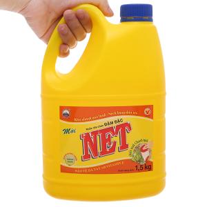 Nước rửa chén NET đậm đặc chiết xuất chanh tươi can 1.5kg
