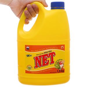 Nước rửa chén NET đậm đặc chiết xuất chanh tươi can 1.46 lít