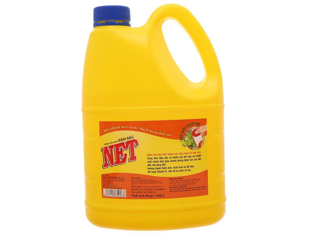 Nước rửa chén NET đậm đặc chiết xuất chanh tươi can 1.5kg 3