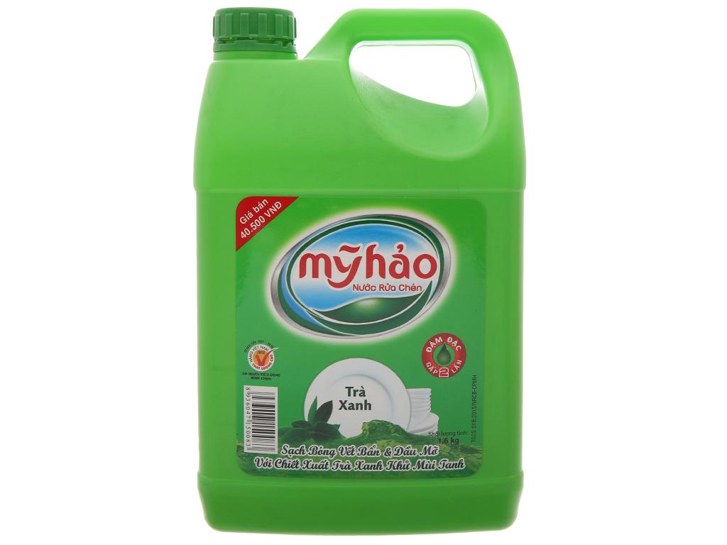 Nước rửa chén Mỹ Hảo hương trà xanh can 1.6kg 2