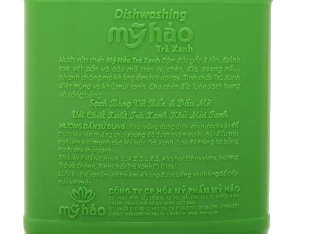 Nước rửa chén Mỹ Hảo hương trà xanh can 1.6kg 4