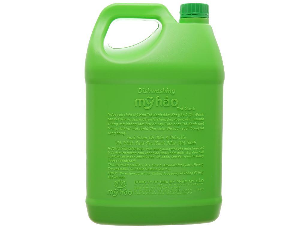 Nước rửa chén Mỹ Hảo hương trà xanh can 3.8kg 3