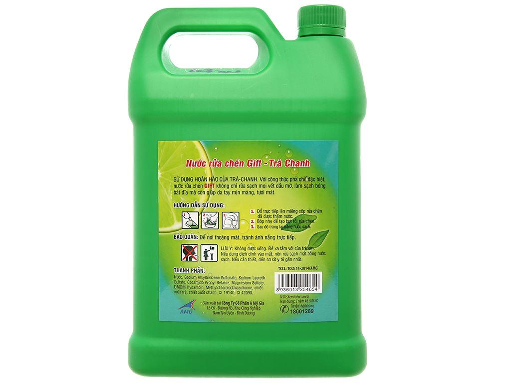 Nước rửa chén Gift hương trà chanh 4kg 3