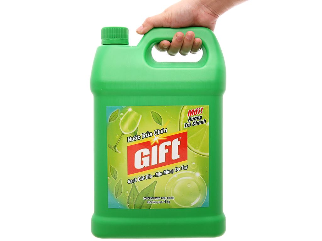 Nước rửa chén Gift hương trà chanh 4kg 4