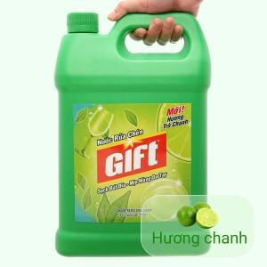 Nước rửa chén Gift hương trà chanh can 4kg