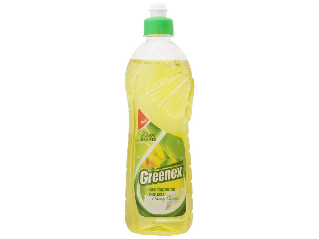 Nước rửa chén Greenex hương chanh chai 400g 2