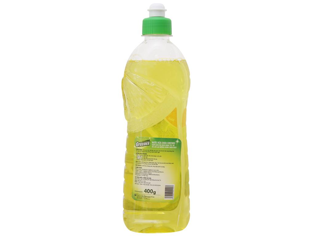 Nước rửa chén Greenex hương chanh chai 400g 3
