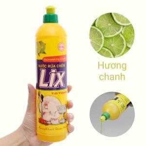 Nước rửa chén Lix Vitamin E hương chanh chai 392ml