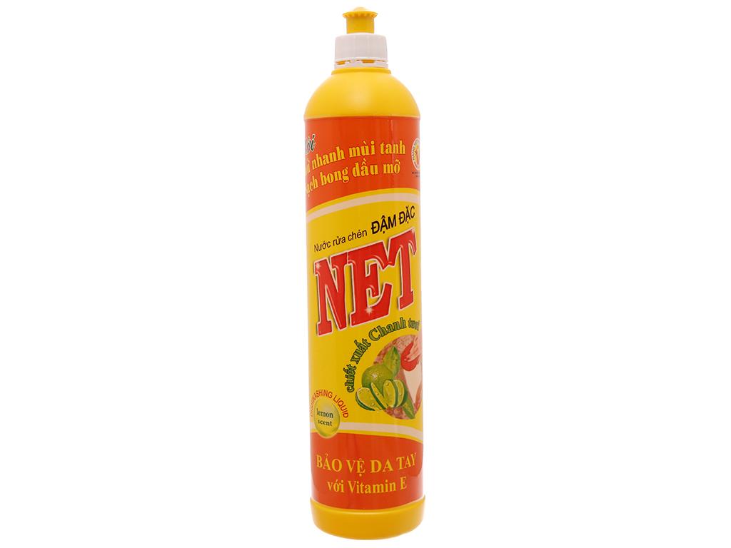 Nước rửa chén NET đậm đặc chiết xuất chanh tươi chai 800ml 2