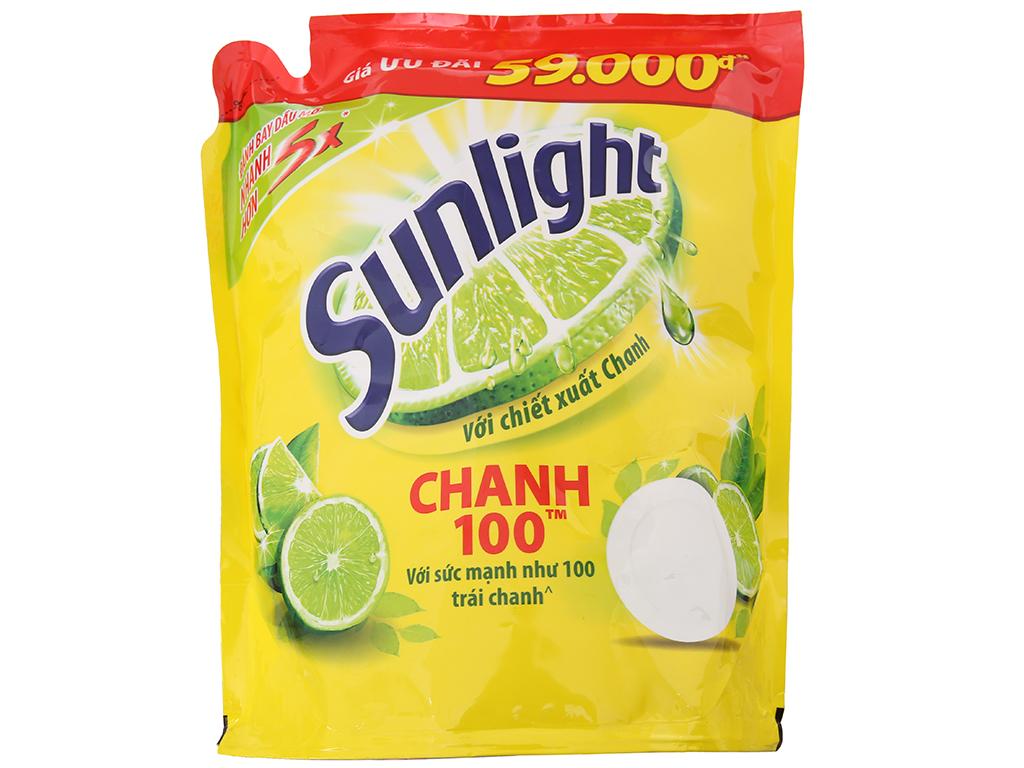 Nước rửa chén Sunlight Chanh 100 chiết xuất chanh 2.6kg 2